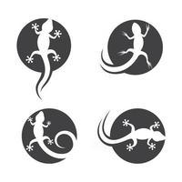 Chameleon logo images illustration vector