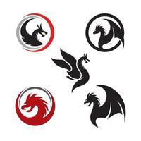 Dragon head logo images vector