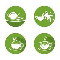 Tea cup logo images vector