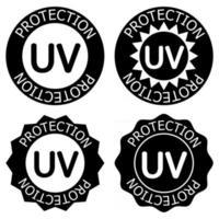 iconos de protección uv. Desinfección con luz ultravioleta. irradiación germicida ultravioleta. Insignia para productos cosméticos de protección solar. limpieza y protección de superficies. icono de glifo. vector