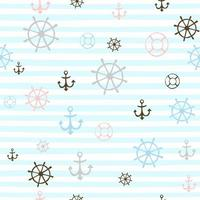 Seamless pattern with cute sailor boys. Vector