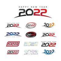 2022 new year icon vector illustration