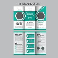 Health Trifold Brochure Template vector