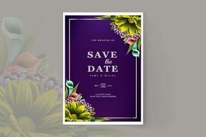 luxury wedding invitation card design template set vector