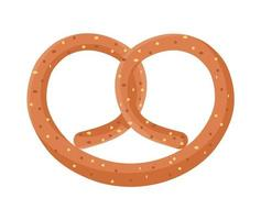 cute pretzel icon vector