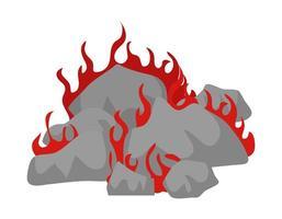 coal burn design vector
