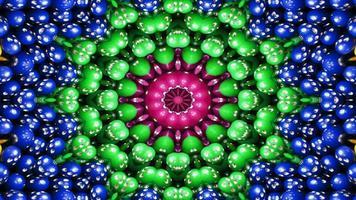 caleidoscópio simétrico e hipnótico video