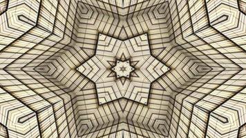 caleidoscopio simétrico e hipnótico video