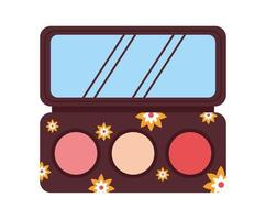 eyeshadow palette isolated vector