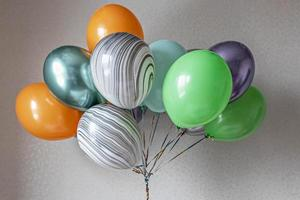Colorful balloons in a bundle photo