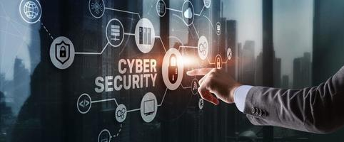 Cyber Security Data Protection concept. Privacy Internet Technology photo