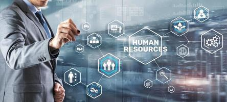 Modern Human Resources Hiring Job Occupation Concept. Business Technology photo