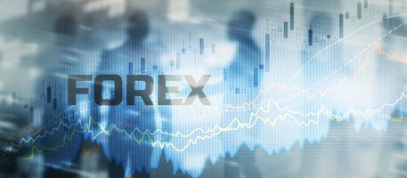 Forex exchange. Financial technology concept. Fintech. Online banking photo