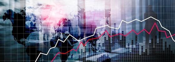 World Maps Financial Crysis Recession Economic concept. photo