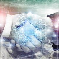 3D earth hologram, Globe, WWW, Global Business and Telecommunication photo