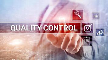 Quality control and assurance.Standardisation. Guarantee. Standards. Business and technology concept photo