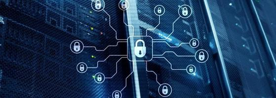Cyber security, data protection, information privacy. Internet and technology concept. photo