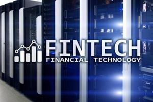 Fintech - Financial technology. Business solution and software development. photo