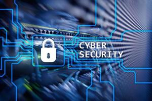 Cyber security, information privacy and data protection concept on server room background. photo