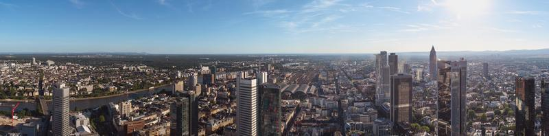 Frankfurt am Main Skyline, Germany, Europe, the financial center of the country. photo