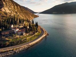 Monastery of Banja on the shore of Kotor Bay, Adriatic sea, between the cities of Risan and Perast, in Montenegro. photo