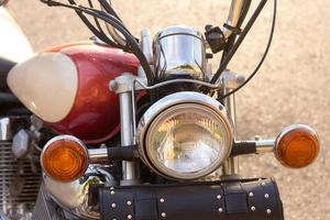 The old motorcycle. Grunge photo