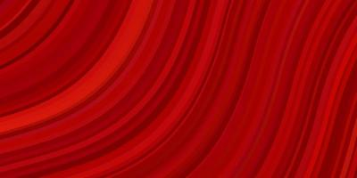Light Red vector background with curves. Brand new colorful illustration with bent lines. Template for cellphones.