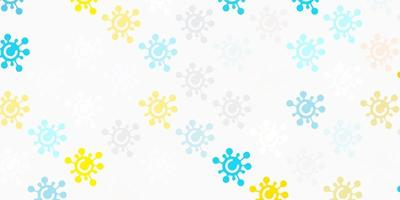 Light Blue, Yellow vector template with flu signs.