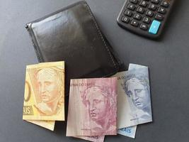 economy and business with Brazilian money photo