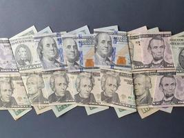 economy and business with American dollar money photo