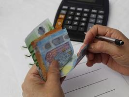 photography for economics and finance themes with european money photo