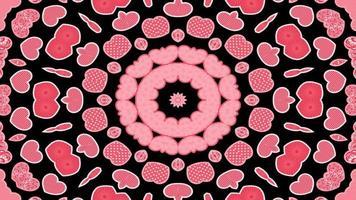 abstraktes buntes verträumtes und hypnotisches Kaleidoskop video