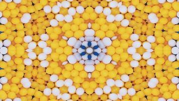 abstraktes buntes symmetrisches und hypnotisches Kaleidoskop video
