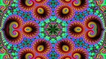 Abstract Colorful Dreamy and Hypnotic Kaleidoscope video