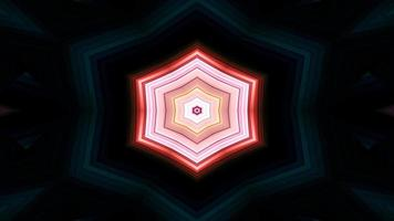 Abstract Colorful Symmetric and Hypnotic Kaleidoscope video