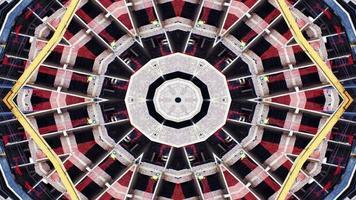 abstrakt färgglatt drömmande och hypnotiskt kalejdoskop video