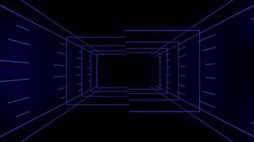 blauwe technologie looping 3 d kamer achtergrond video