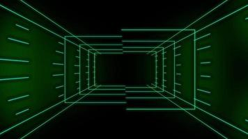 groene technologie looping 3 d kamer achtergrond video