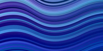 Dark Pink, Blue vector background with bent lines. Colorful geometric sample with gradient curves. Template for cellphones.