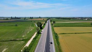 estrada rural nos campos video