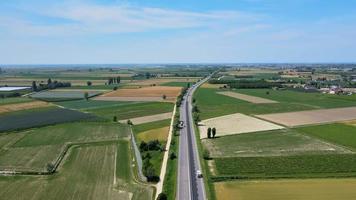estrada rural aérea video