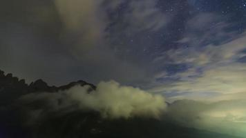 Milky Way with Clouds video