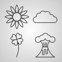 Nature Line Icon Set Collection of Vector Symbol in Trendy Outline Style