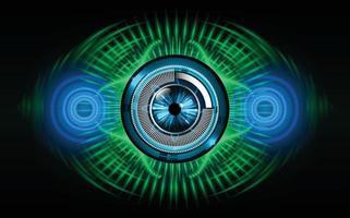 Fondo de concepto de tecnología futura de circuito cibernético de ojo vector