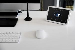 Home automation with objects on desk photo