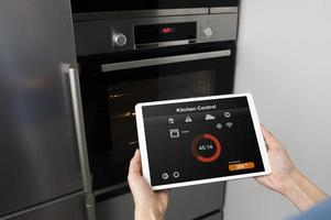 Close up device with kitchen control photo