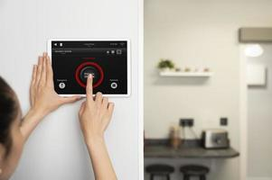 Home automation with tablet photo