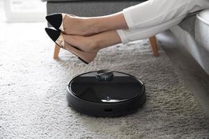 Close up smart vacuum cleaner photo