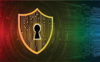 Candado cerrado sobre fondo digital, seguridad cibernética vector