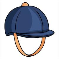 Outfit rider head protection jaquettes helmet illustration in cartoon style. vector